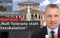 """""""Wir brauchen Null-Toleranz statt Deeskalation"""" (JF-TV Interview mit Martin Hess)"""
